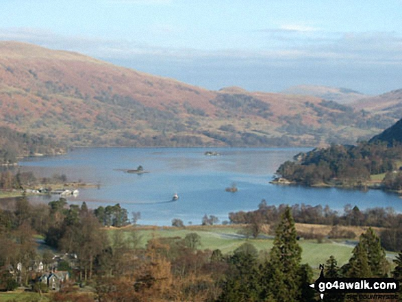 Ullswater from the path to Arnison Crag
