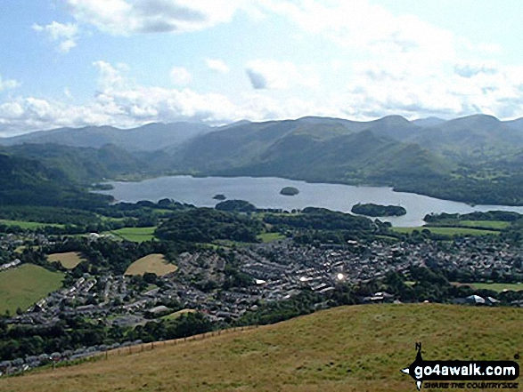 Walk Latrigg walking UK Mountains in The Northern Fells The Lake District National Park Cumbria    England