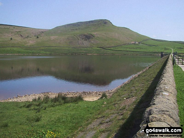 Embsay Reservoir with Embsay Crag beyond