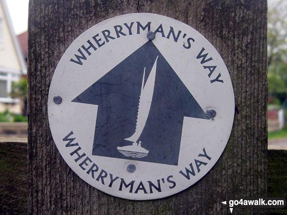 Wherryman's Way waymarker