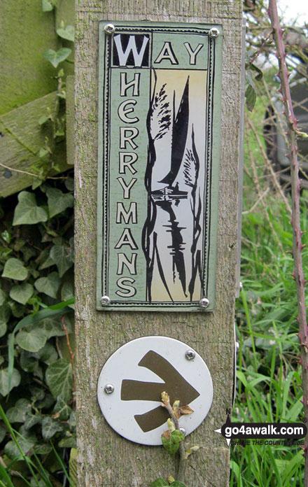 Alternative Wherryman's Way waymarker