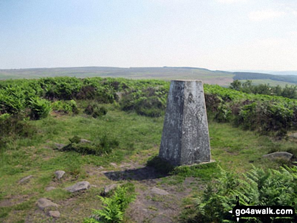 Birchen Edge summit trig point