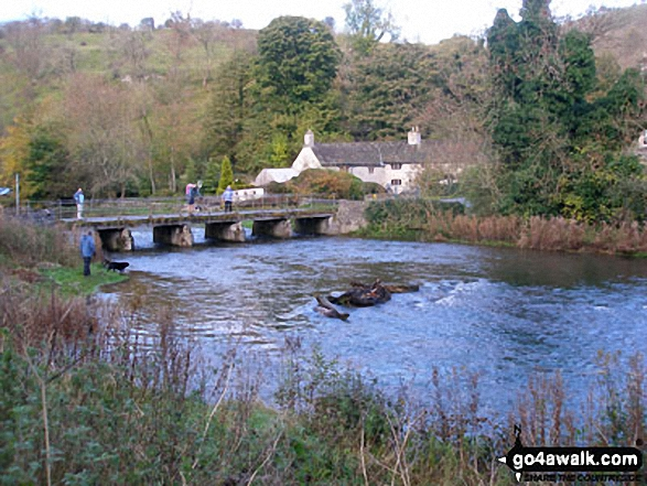 Bridge of the River Wye in Upperdale. Walk route map d270 Monsal Head, Monsal Dale and Deep Dale from Ashford in the Water photo