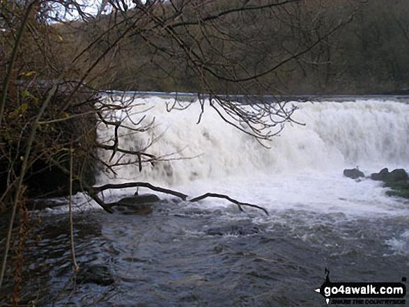 Waterfall on the River Wye, Monsal Dale