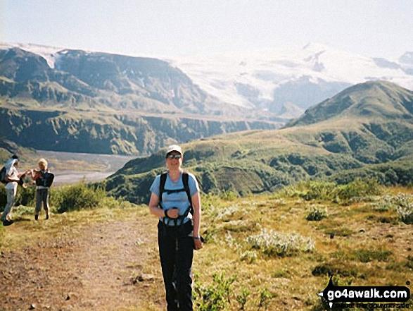 Me on A Mountain walk Porsmork  Iceland walks