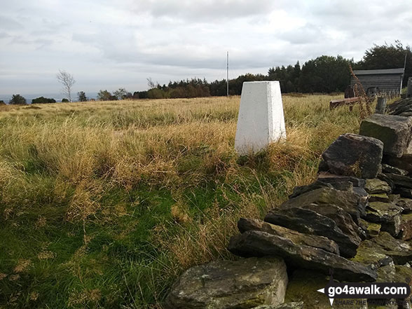 The Trig Point on the top of Onesmoor (Kirk Edge)