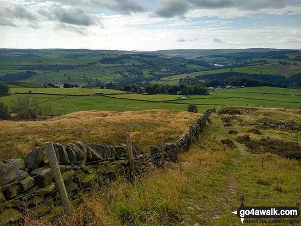Looking down to High Bradfield from Onesmoor (Kirk Edge)