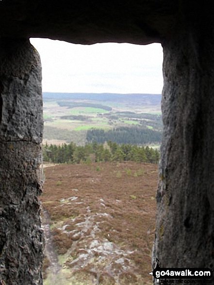 The view from General Burnett's Monument (aka Scolty Tower) on the summit of Scolty Hill, south west of Banchory