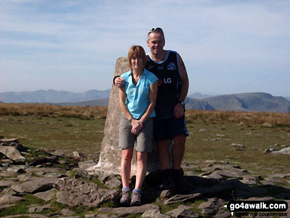 On the summit of Helvellyn