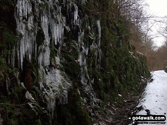 Icicles on the C2C between Threlkeld and Keswick