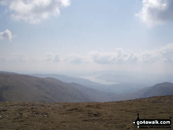 South from Fairfield. Walk route map c247 The Fairfield Horseshoe from Ambleside photo