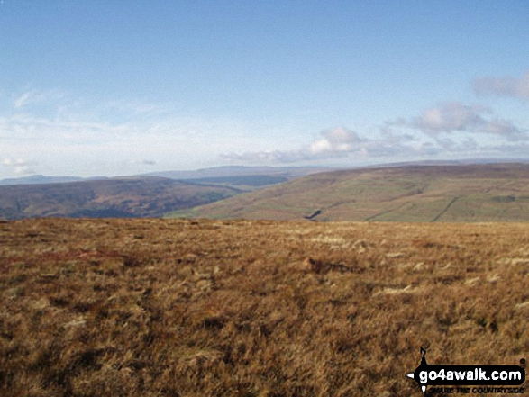 West from Buckden Pike. Walk route map ny137 Buckden Pike via Buckden Beck from Buckden photo