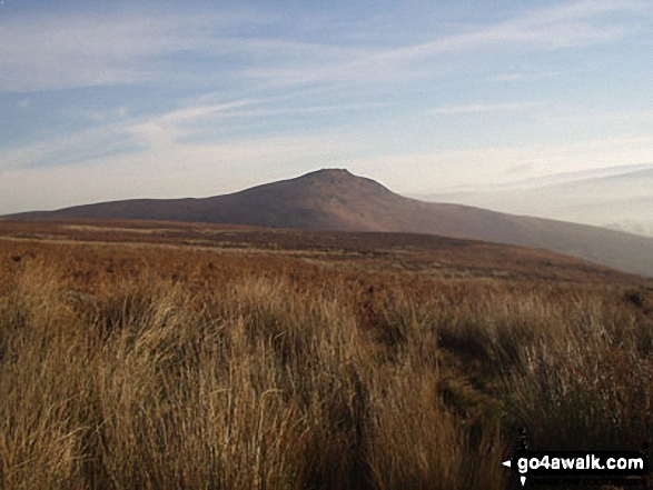 Embsay Crag from Embsay Moor. Walk route map ny124 Rylstone Fell, Cracoe Fell, Thorpe Fell Top and Embsay Moor from Embsay photo