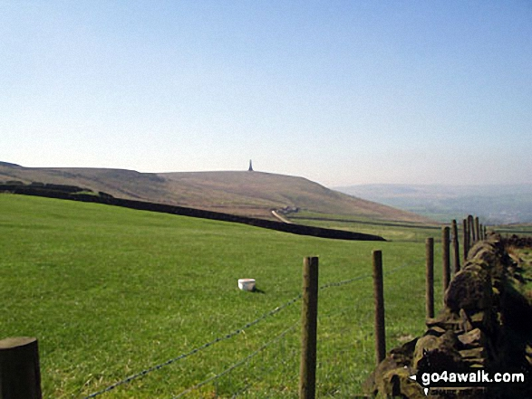 Stoodley Pike from Erringden Moor