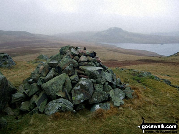 The Seat (Birker Fell) and Devoke Water from Water Crag (Birker Fell) summit