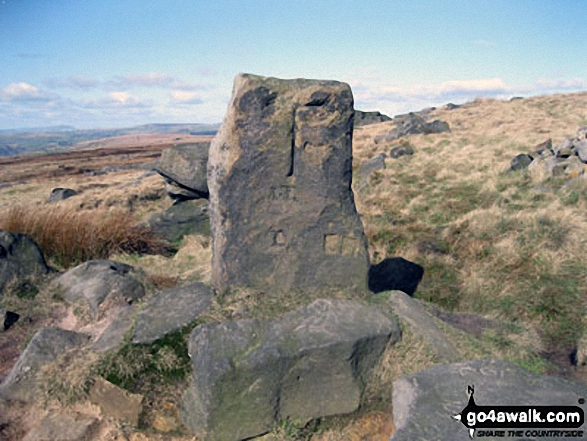 The Aiggin Stone, Blackstone Edge Moor