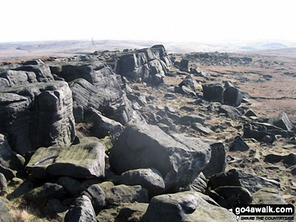 The clitter on Blackstone Edge summit