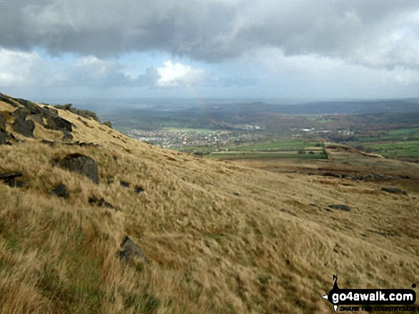 Meltham across Meltham Moor from West Nab. Walk route map wy106 West Nab and Horseley Head Moss from Meltham photo