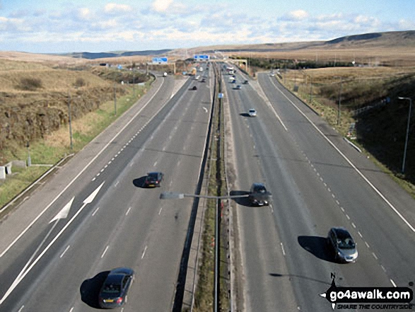 The M62 from The Pennine Way footbridge