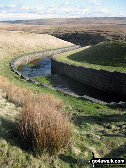 Exit channel from Green Withens Reservoir