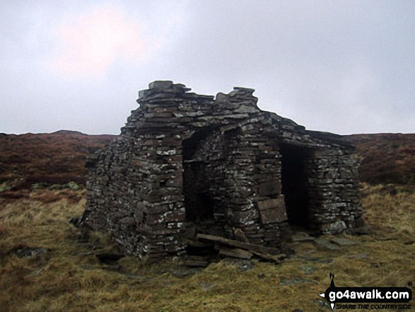 Ruin in the lower slopes of Yockenthwaite Moor near Yockenthwaite village. Walk route map ny133 Yockenthwaite from Buckden photo