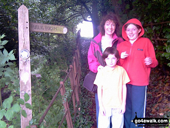 Ruth, Daisy and Zach at the start near Bletchingley. Walk route map su131 Godstone from Bletchingley photo