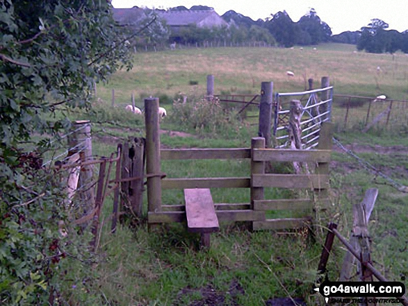 Stile on The Greensand Way, South Nutfield. Walk route map su125 South Nutfield from Bletchingley photo