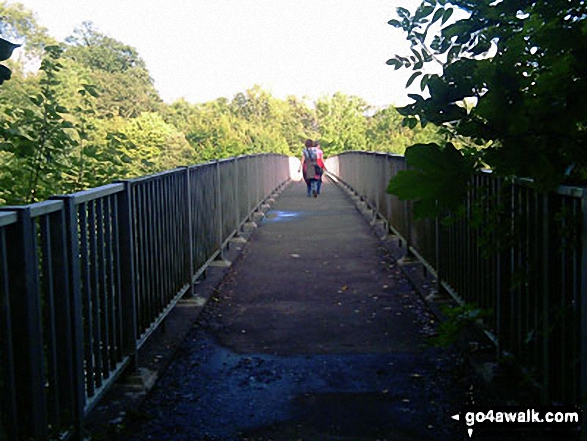 Footbridge over the M23 near beyond Crabtree House. Walk route map su125 South Nutfield from Bletchingley photo