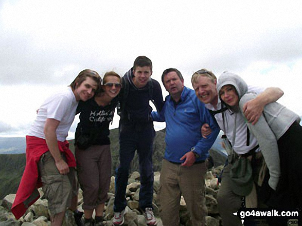 On the top of Scafell Pike