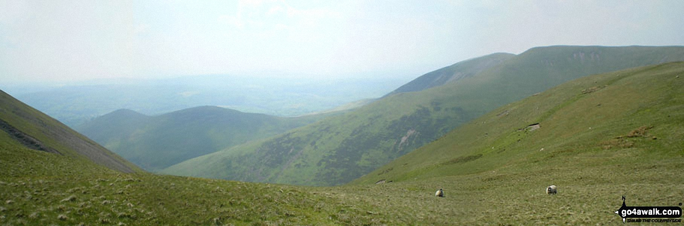 Linghaw behind Fell Head (Howgills) from near The Calf