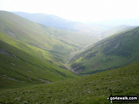 Long Rigg Beck valley from near Fell Head (Howgills)