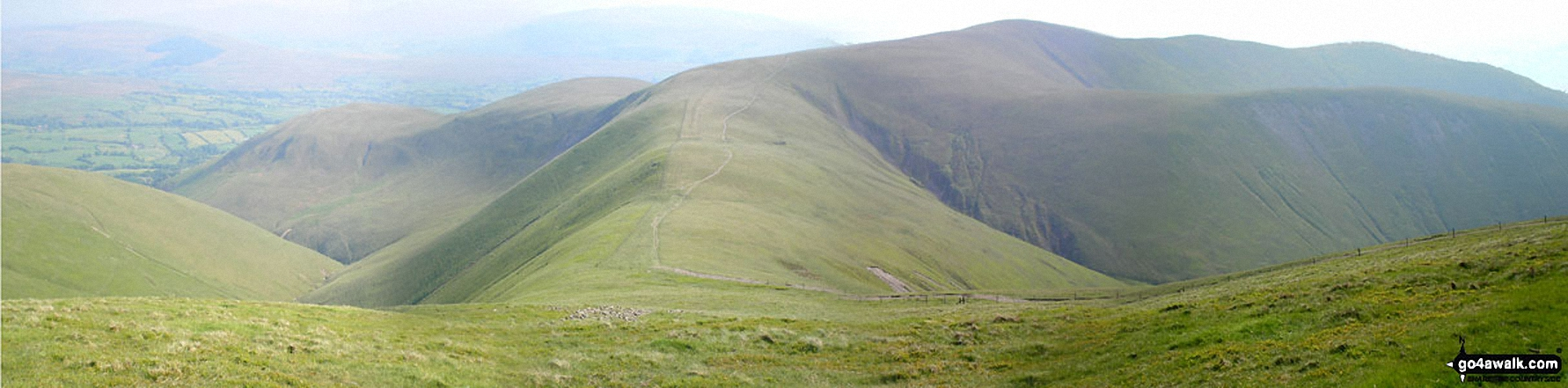 Sickers Fell, Rowantree Grains and Arant Haw from Calders