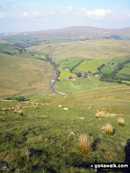 The River Rawthey and Cross Keys from the lower slopes of Great Dummacks
