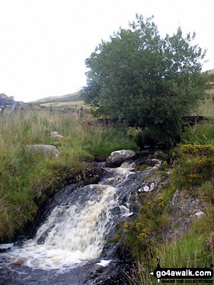 Nant Cwm Da waterfall