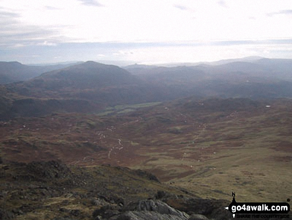 Hard Knott from Slight Side. Walk route map c166 The Scafell Masiff from Wha House Farm, Eskdale photo