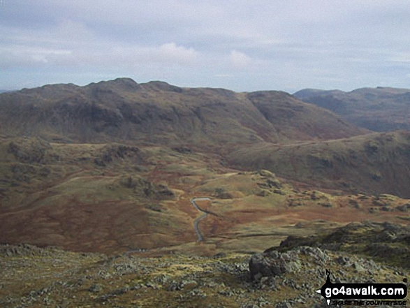 Gunson Knott, Crinkle Crags (Long Top) and Crinkle Crags (South Top) from Slight Side