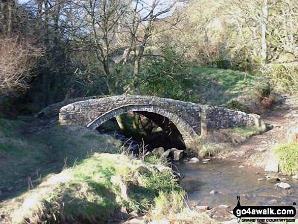 Washgate Bridge over The River Dove near Hollinsclough