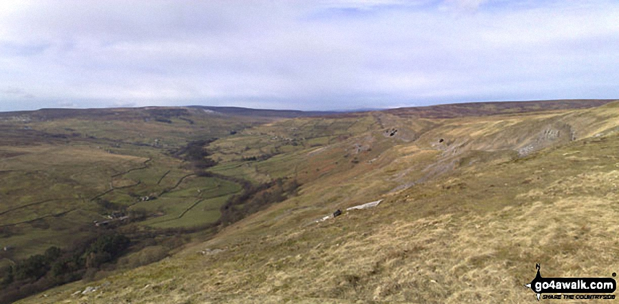 Arkengarthdale and Langthwaite from Fremington Edge