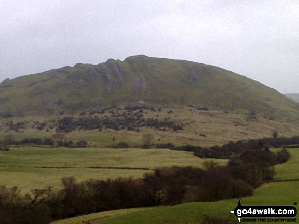 Looking North East to Chrome Hill from where the footpath joins the road into Hollinsclough