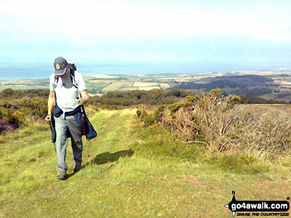 Graham walking near Thorncombe Hill