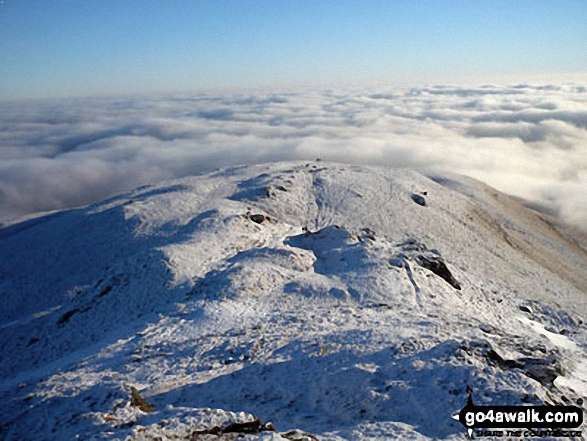 Temperature inversion from the summit of Ben Ledi in the snow