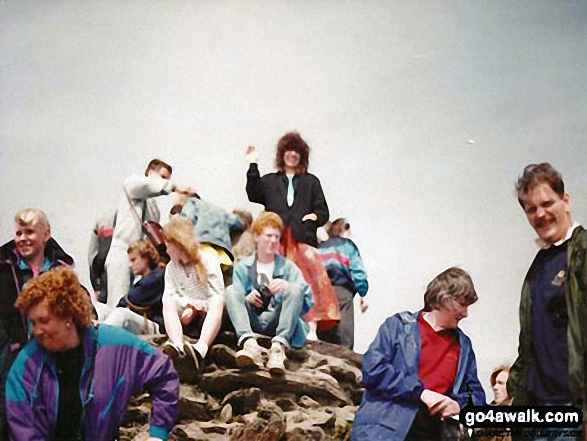Me on the summit of Mount Snowdon. Walk route map gw136 The Snowdon (Yr Wyddfa) Horseshoe from Pen y Pass photo