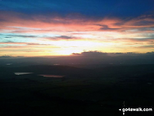 Sunrise from Pendle Hill (Beacon or Big End)