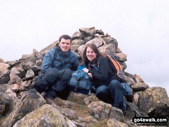 Me and Jamie on Middle Fell in Lake District Cumbria England