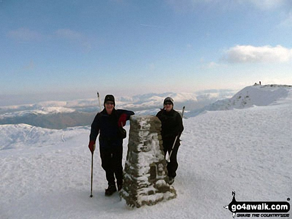 Me and my father John at the summit of Helvellyn at the beginning of Feb 2012