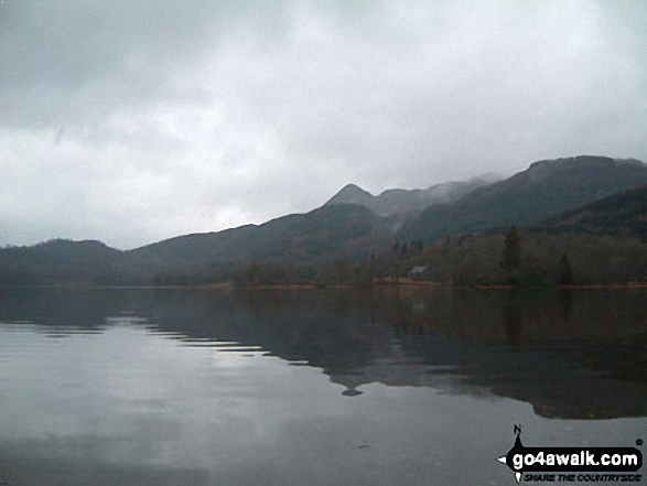Moody view of Ben A'an across Loch Achray