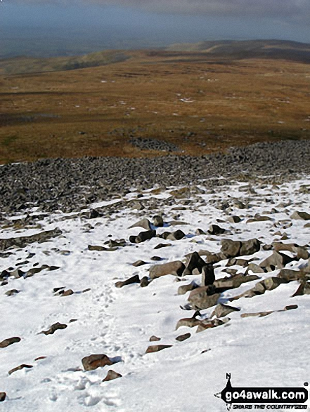 Cuns Fell and Melmerby Fell from Cross Fell's snow clad western edge