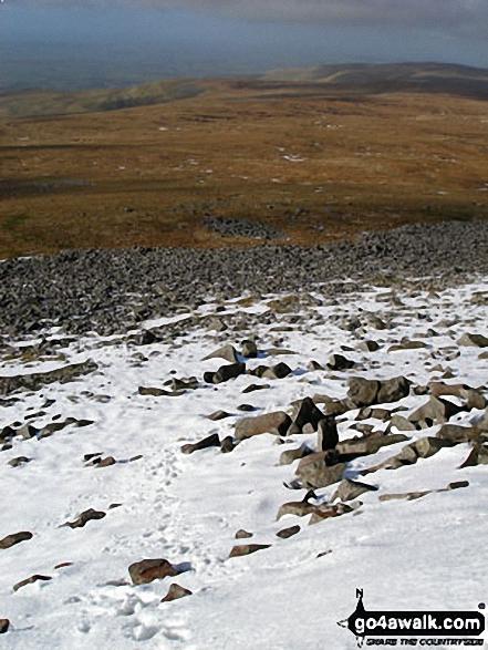 Cuns Fell and Melmerby Fell from Cross Fell's snow clad western edge