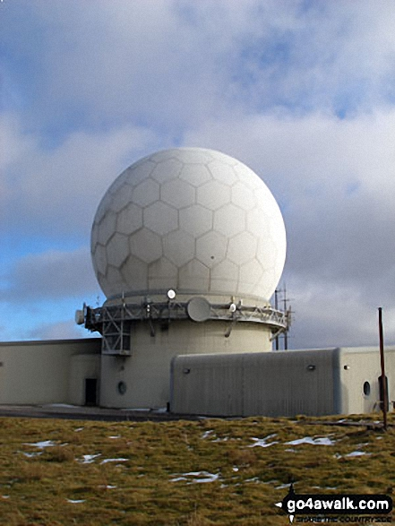 Great Dun Fell summit radar station