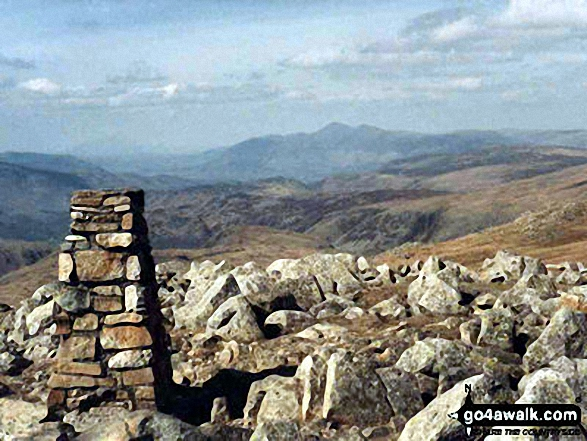 The summit of High Raise (Langdale),  the highest point in The Central Fells area of The Lake District National Park Photo: Hugh Turner